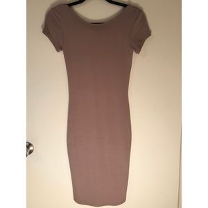 Nude, fitted Wet Seal dress
